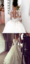 Princess Wedding Dress,Cinderella Wedding Dress,Disney Wedding Dress,Long Sleeve Wedding Dress,WS082