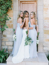 Light Blue Bridesmaid Dresses,Bridesmaid Dresses Long,Boho Bridesmaid Dresses,Rustic Wedding,Maid of Honor Dresses,FS068