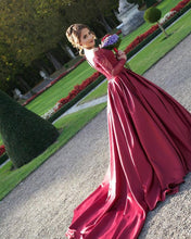Red Wedding Dress,Wedding Dress With Sleeves,Ball Gown Off Shoulders Wedding Dress,MA166