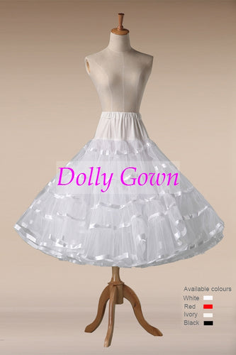 Tea Length Petticoat, Short Pettiskirt,accessories