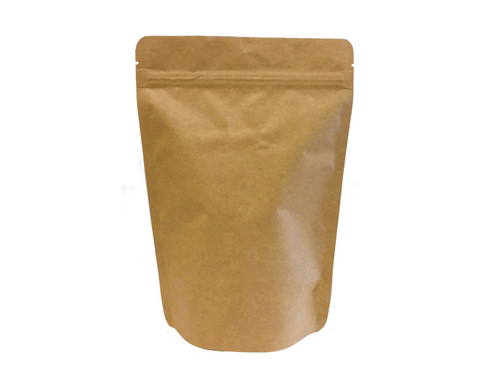 8 Oz Kraft Paper/AL Foil Lined Stand Up Pouch (500/case) - $0.249/pc