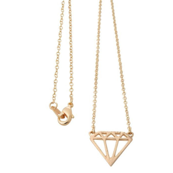 Geometric Diamond Shaped Necklace - One Happenstance