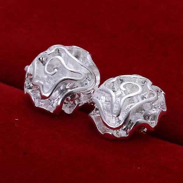 Sterling Silver Rosebud Stud Earrings