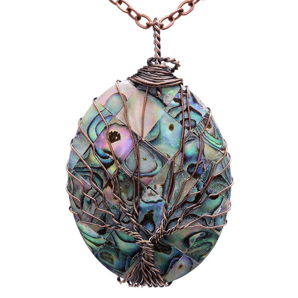 Abalone Tree Of Life Pendant - One Happenstance