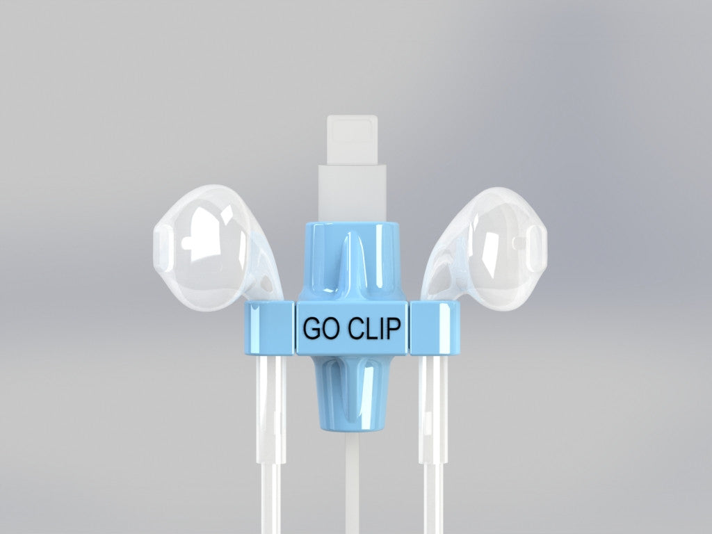 GO CLIP - Blue - Lightning Port with Apple Earpods
