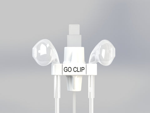 GO CLIP - White - Lightning Port with Apple EarPods