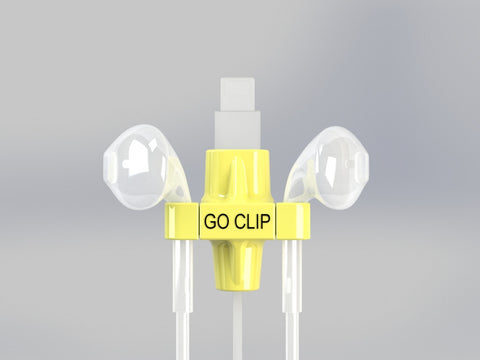 GO CLIP - Yellow - Lightning Port with Apple EarPods