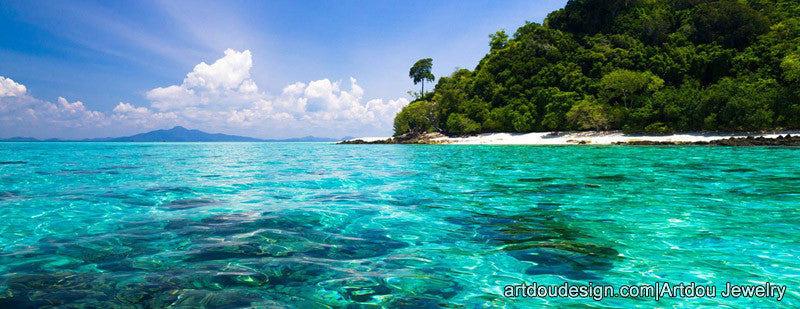 beautiful scenery of Caribbean sea