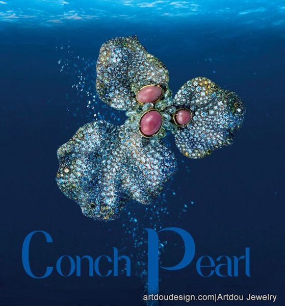 conch pearl treasure of Caribbean sea