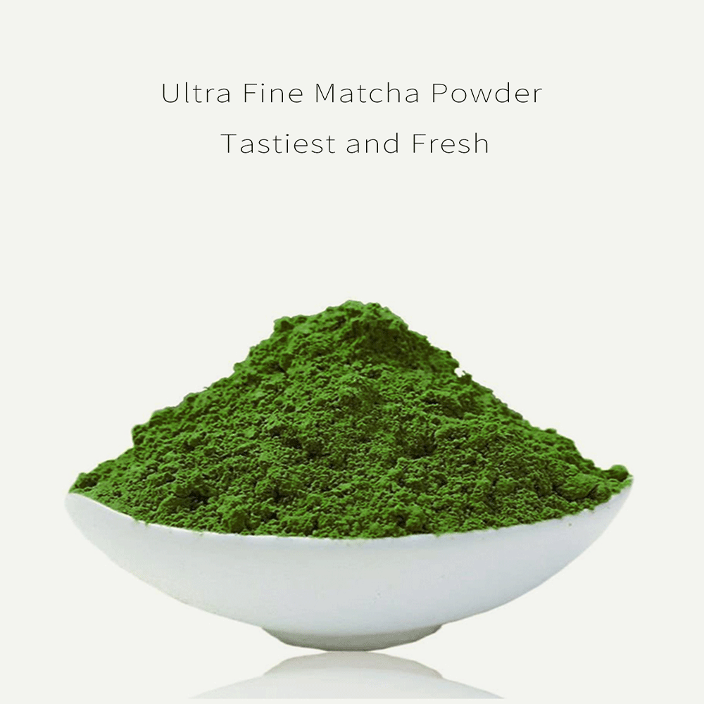 JQ Matcha Green Tea Powder 3.5 OZ 100 g Bags Family Basic Culinary Grade USDA Pure Organic