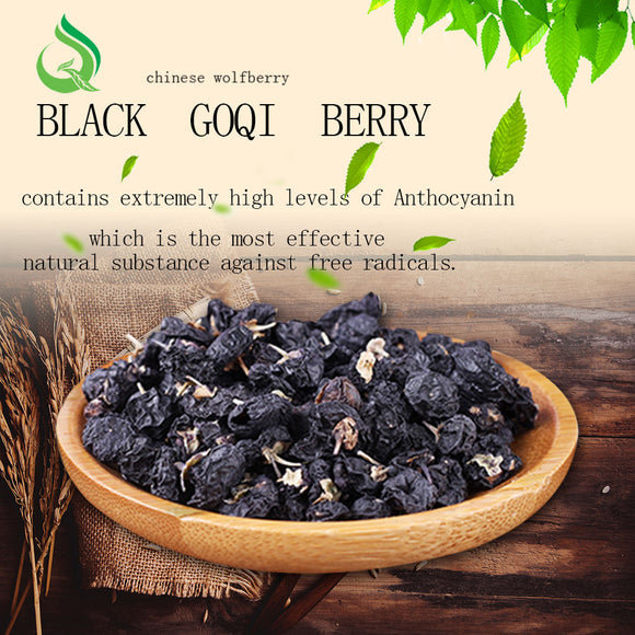JQ Organic Lycium chinense Ningxia Black Goji, goji berry Lycium barbarum wolfberry 500g for tea juice Baking soup