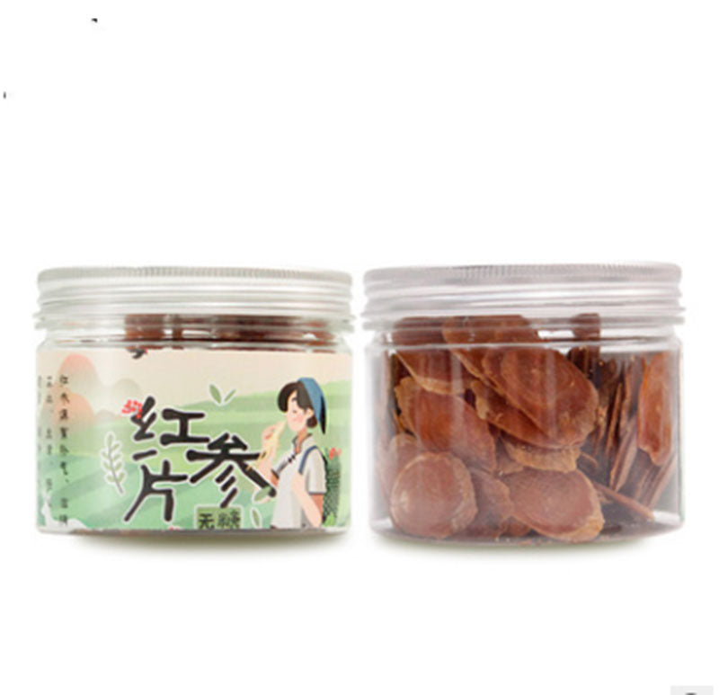 Chinese Red Ginseng Big Slices 2-3cm 100g Pure Nature Planting Time: 6 Years Origin:Jilin Province, China