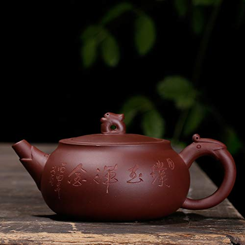 Chinese Yixing Purple Clay Handmade Tea Pot Zisha Zi Ni Teapot (璞玉)