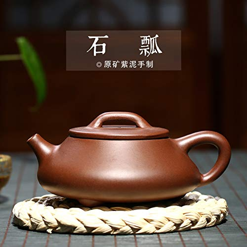 Chinese Yixing Purple Clay Handmade Tea Pot Zisha Zi Ni Teapot (石瓢)