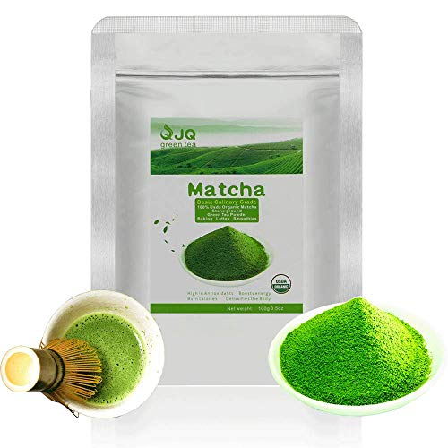 Matcha Green Tea Powder 3.5 OZ 100 g Basic Culinary Grade Organic macha Powder Mocha USDA Latte Baking Cooking