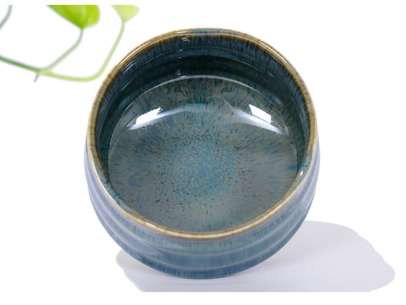 Matcha Bowl Glazed Green Tea Chawan for Japanese Tea Ceremony (Turquoise Blue)