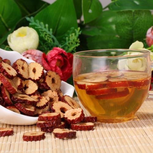 Chinese Delicacies Poly Dry Freeze Dried Red Dates Delicious Crisp Snacks Seedless Jujube Tea Tablets 500g for Snack Soup Tea