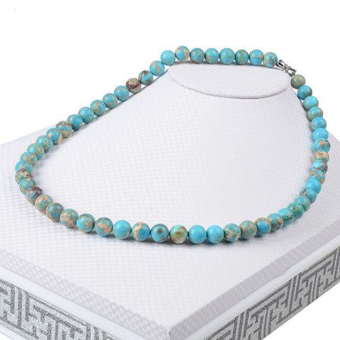 Turquoise Mala Beaded Necklace
