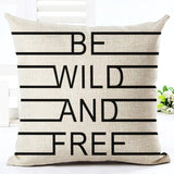 Be Wild and Free Love Cushions