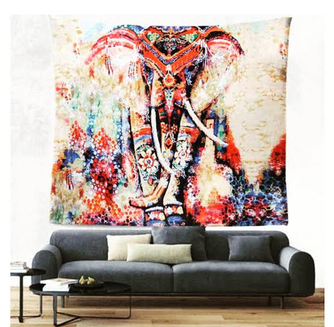 Elephant Printed Wall Decor