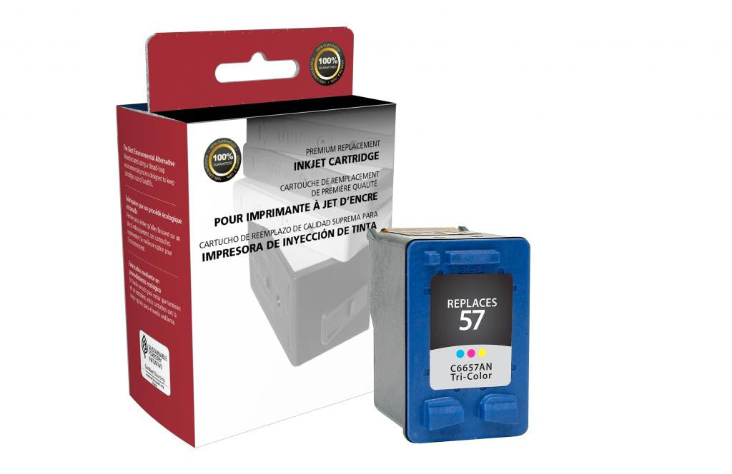 Tri-Color Ink Cartridge for HP C6657AN (HP 57)