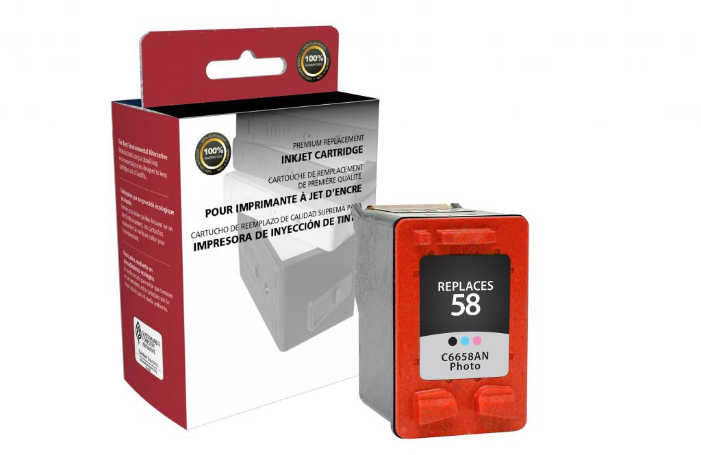 Photo Ink Cartridge for HP C6658AN (HP 58)