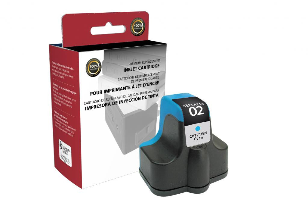 Cyan Ink Cartridge for HP C8771WN (HP 02)