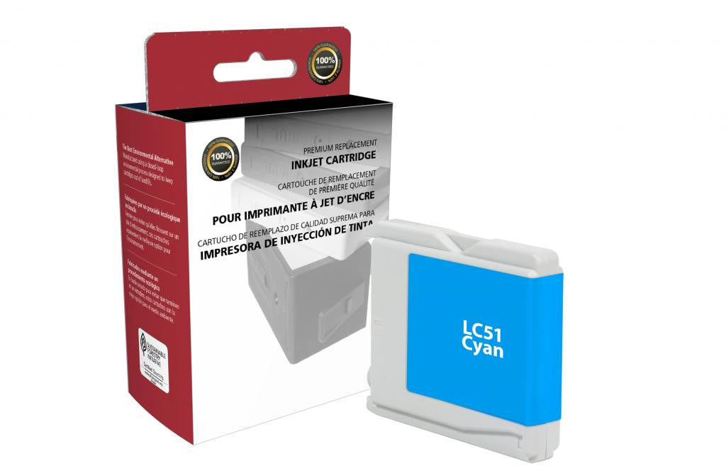 Cyan Ink Cartridge for Brother LC51