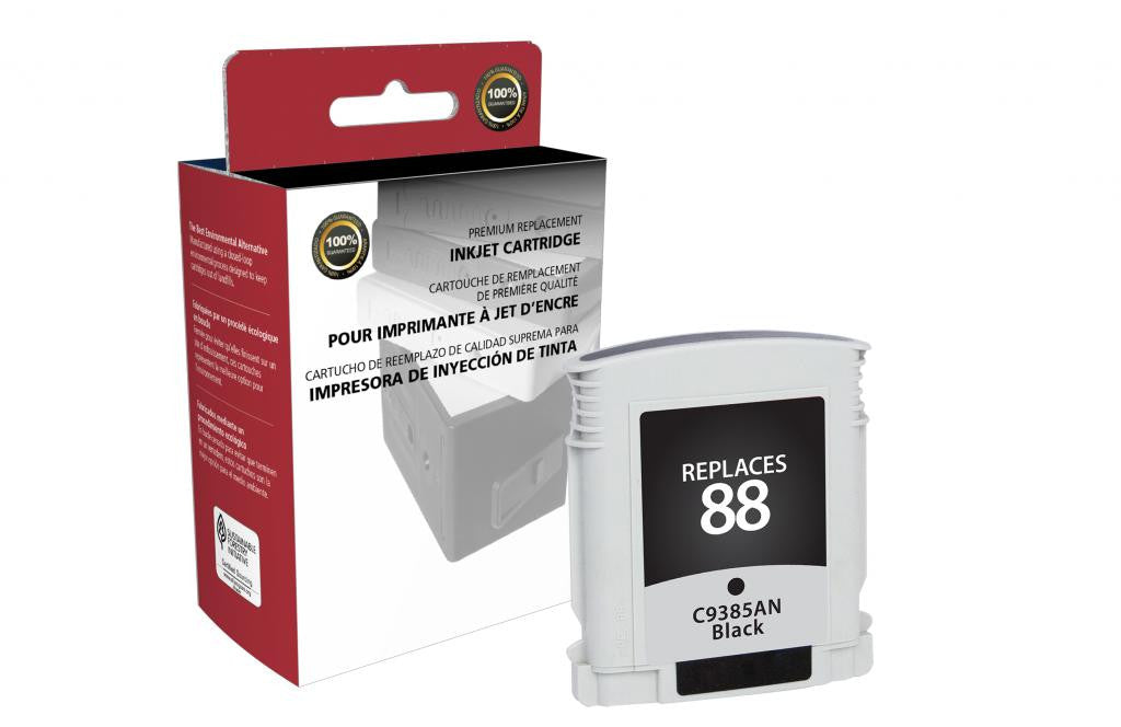 Black Ink Cartridge for HP C9385AN (HP 88)