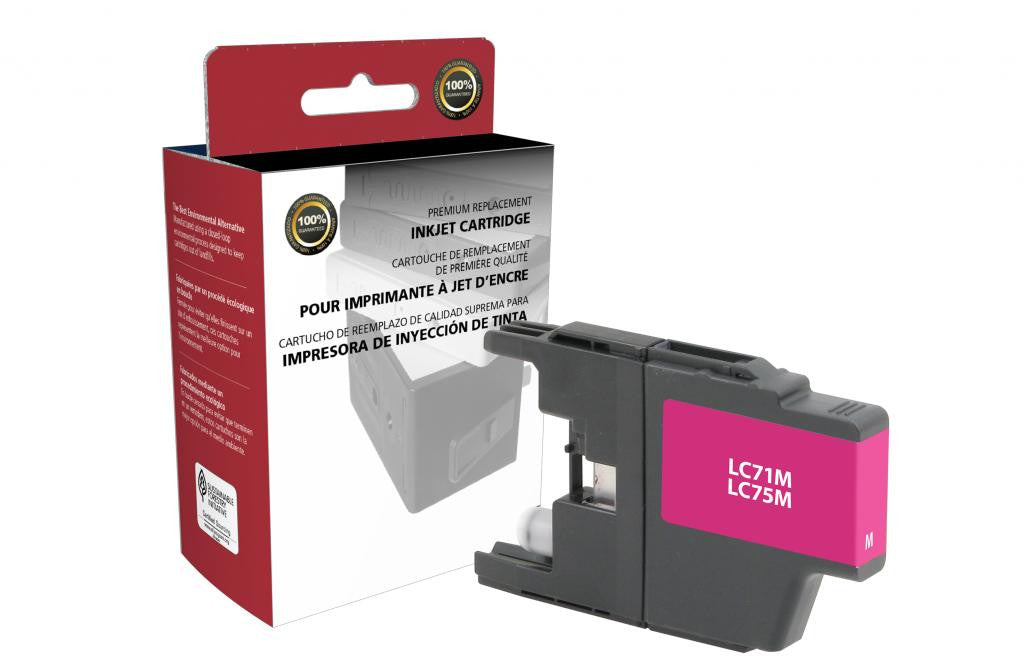 High Yield Magenta Ink Cartridge for Brother LC71/LC75