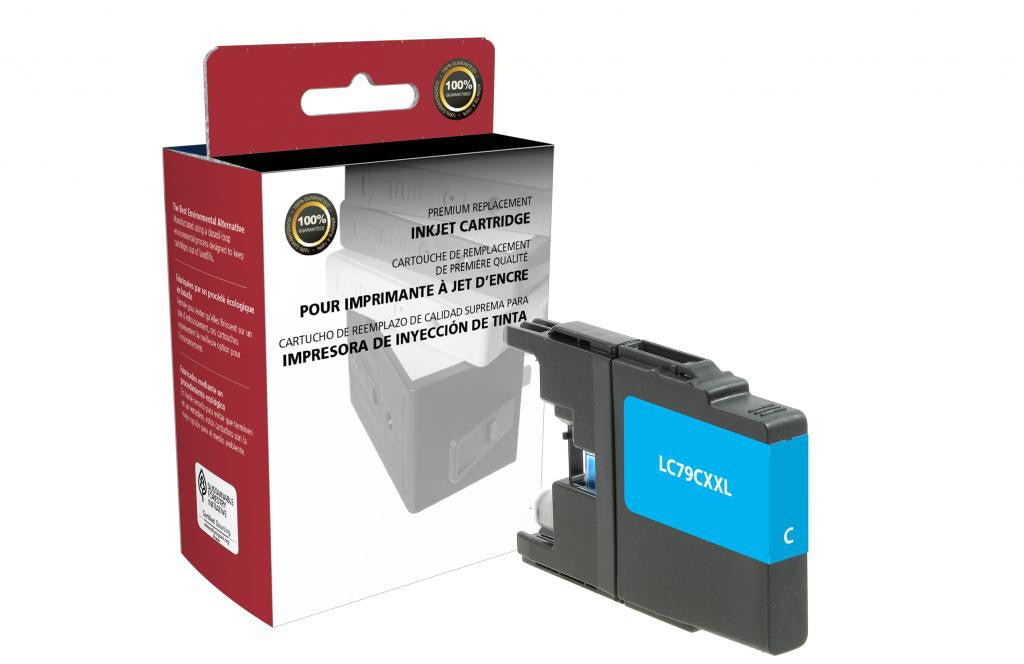 Extra High Yield Cyan Ink Cartridge for Brother LC79