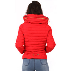 Bubble Padded Winter Quilted Zara Coat Jacket Red Styledup