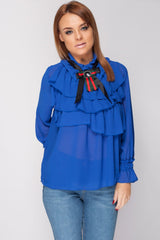 Red Green Stripes Gucci Inspired Top Blue