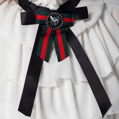 Gucci Inspired Bow Tie blouse white