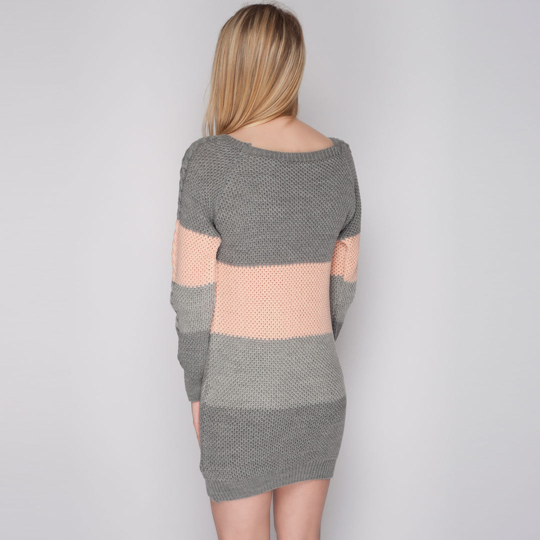 chunk Knit Oversized Jumper DRess