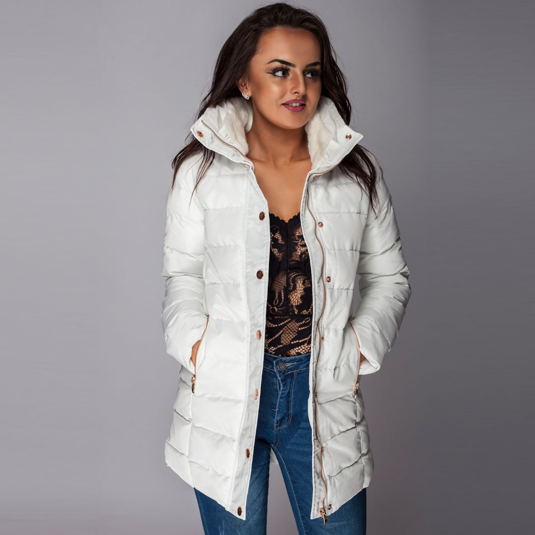 8b2632dc Long Puffer Quilted Coat Winter White – Styledup.co.uk