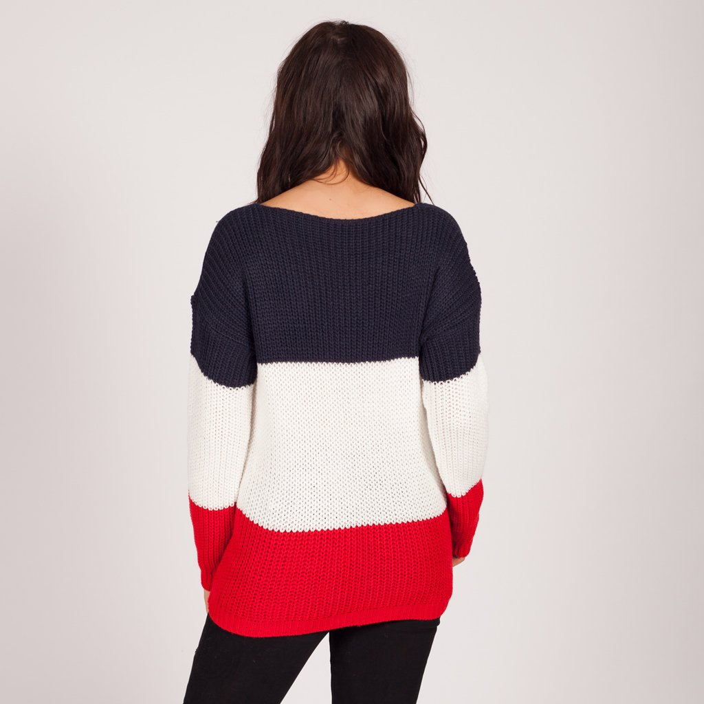 ddf8c2cc15 Love My Lace Up Knitted Jumper Red – Styledup.co.uk