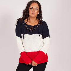 Winter Knitted clothing Navy White Red