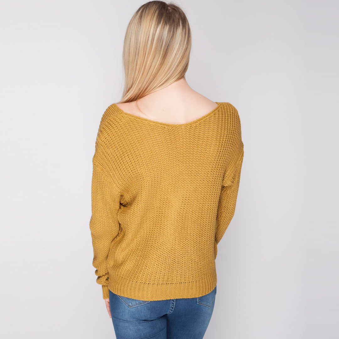 Womens Winter Jumper Mustard