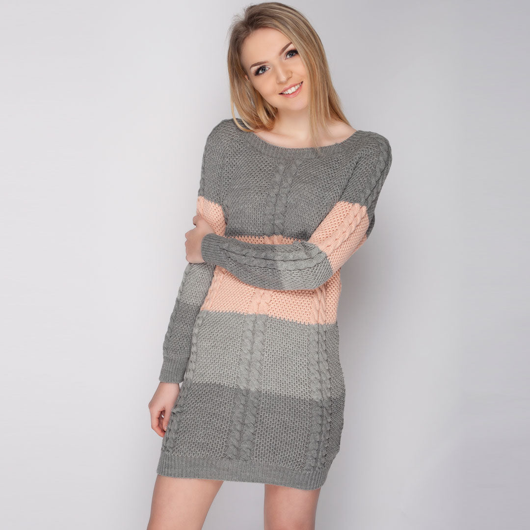 Womens Long Sleeve Jumper Dress Knitwear