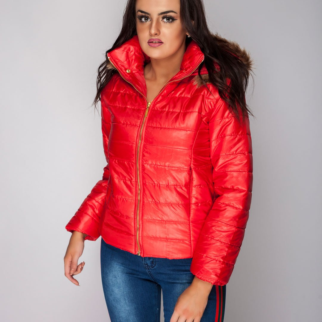 Water Resistant Winter Coat Red