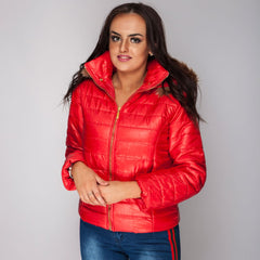 Quilted Padded Coat Jacket Red Light weight