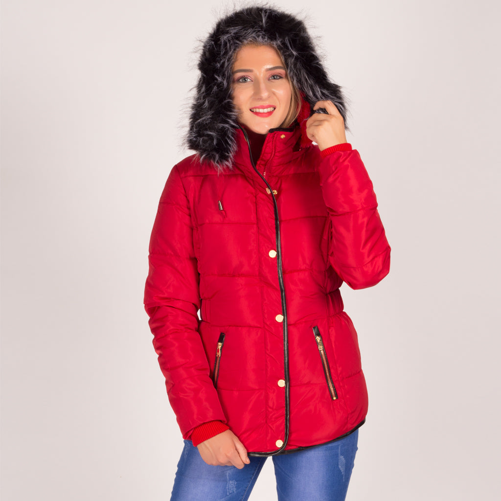 Quilted Hooded Parka Coat