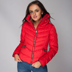 Quilted Zara Coat Jacket Red