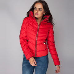 Quilted Zara Coat Red Styledup