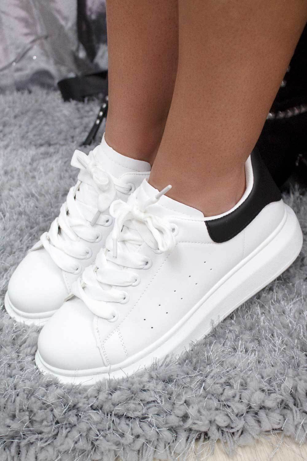 womens white alexander mcqueen inspired trainers