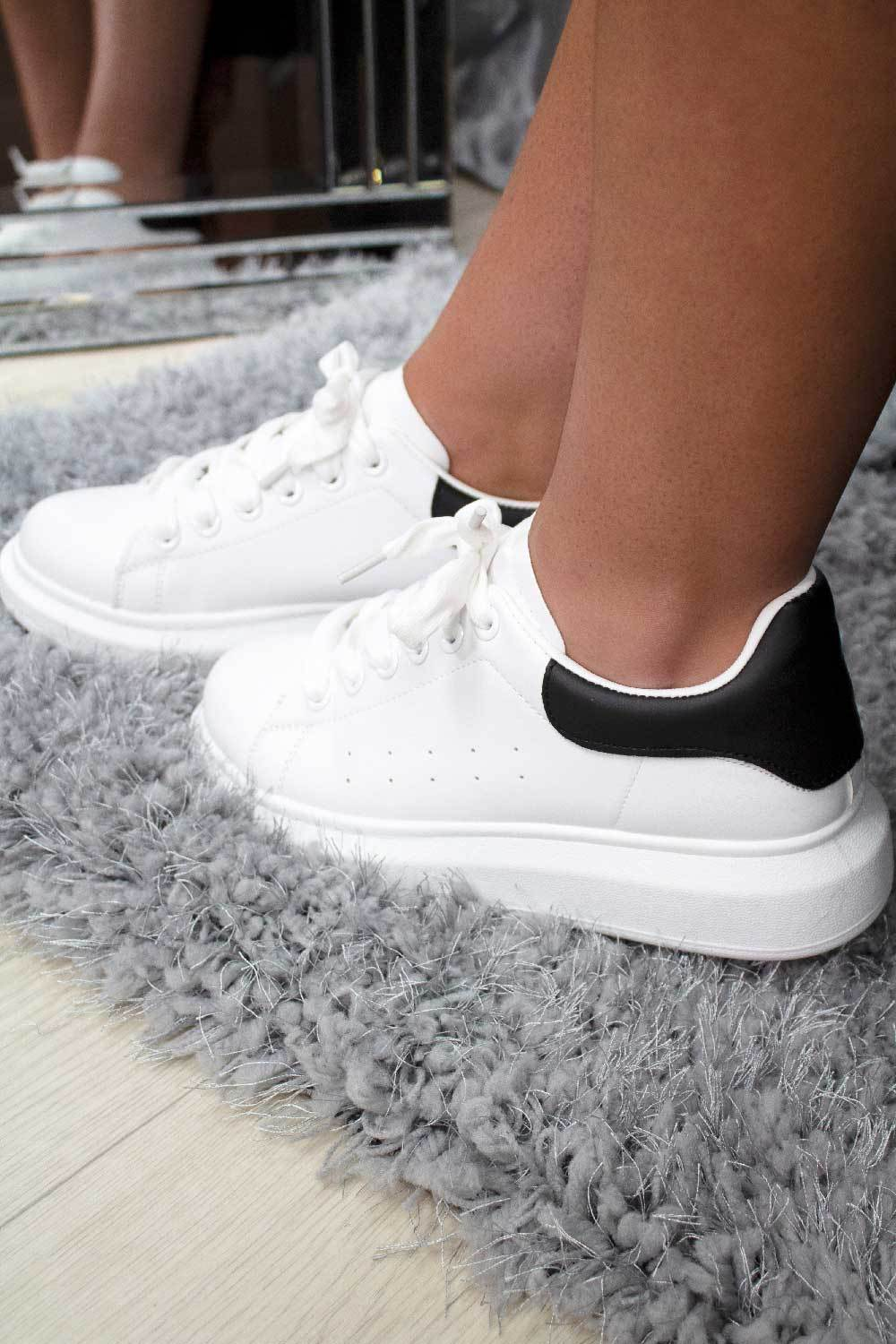 womens chunky trainers white styledup fashion