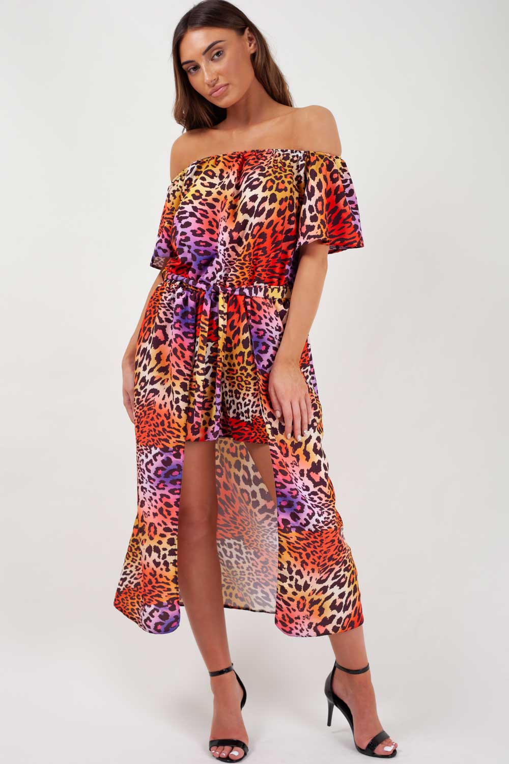 6500960f93d6 Leopard Print Off Shoulder Summer Playsuit – Styledup.co.uk