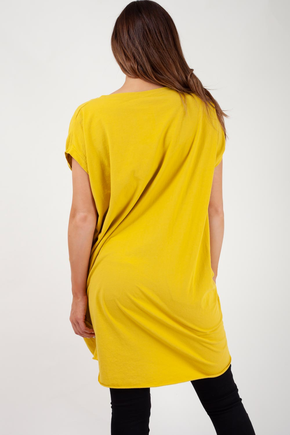 mustard oversized t shirt womens