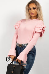 long sleeve dressy jumper baby pink